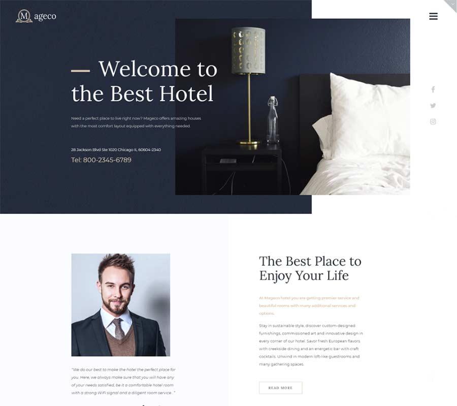 Mageco Best Hotel Booking WordPress Theme