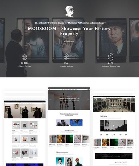 Mooseoom - Museum & Exhibition WP Theme