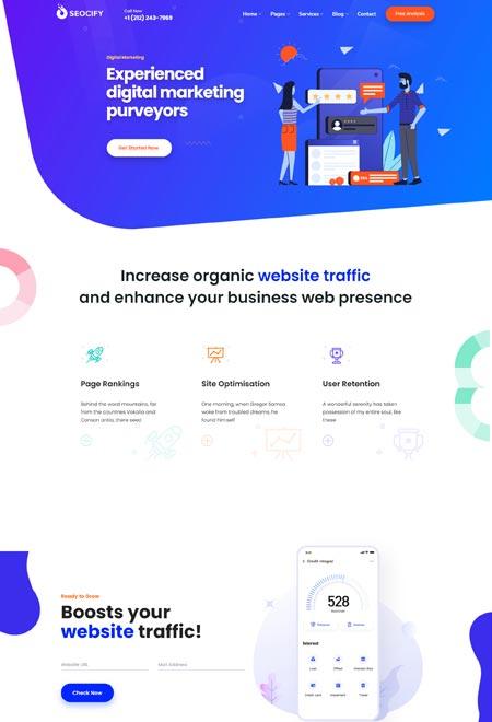 Seocify - SEO & Digital Marketing WordPress Theme