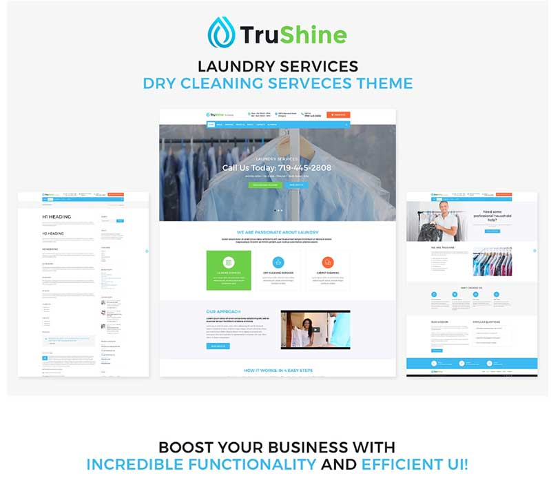 TruShine - Laundry Service WordPress Theme