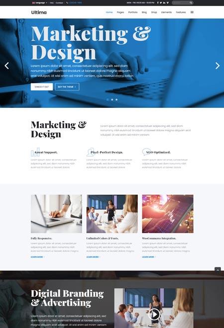 Ultima – WordPress Themes for Marketing Agency