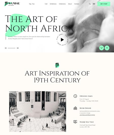 Wandau - Art & History Museum WordPress Theme