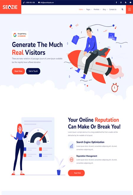 Seozia – SEO and Marketing WordPress Themes