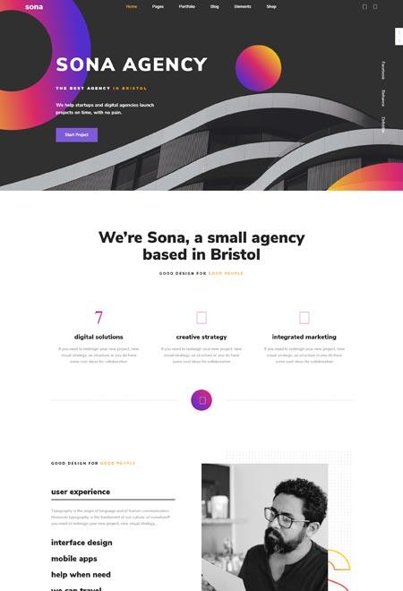 Sona – Design Agency WordPress Theme