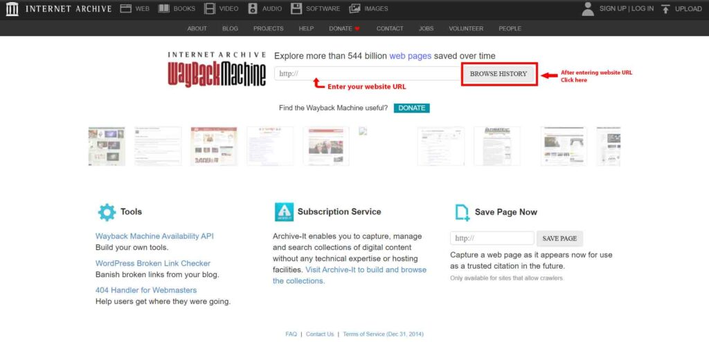 Recover WordPress Website from web archive