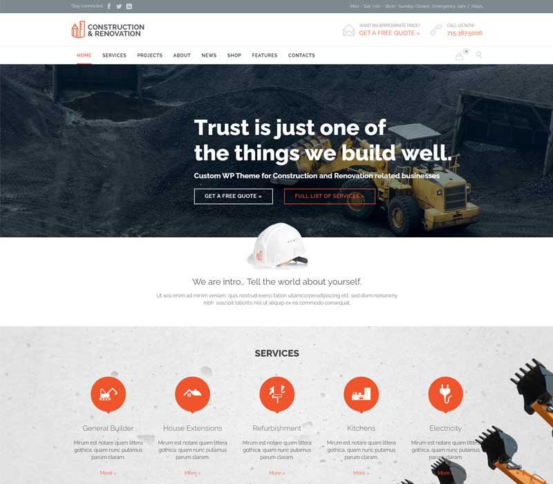 Construction - Best Contractor WordPress Theme