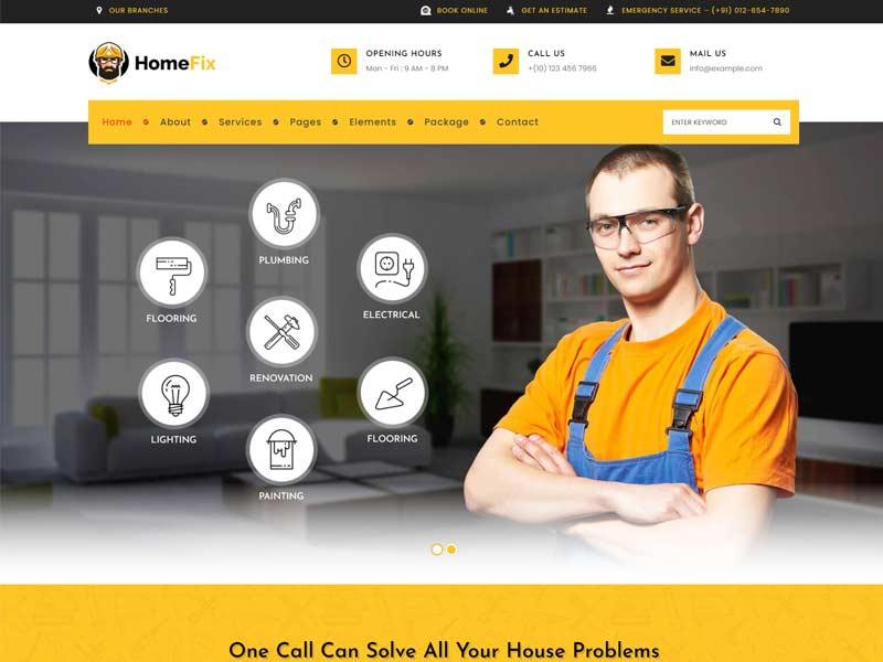 HomeFix - Plumber & Handyman WordPress Theme