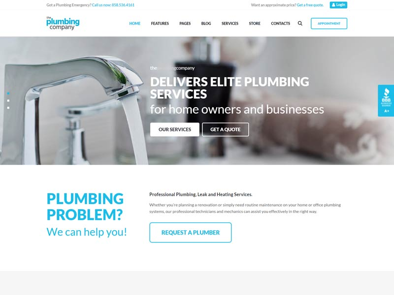 Plumbing - Plumber WordPress Theme