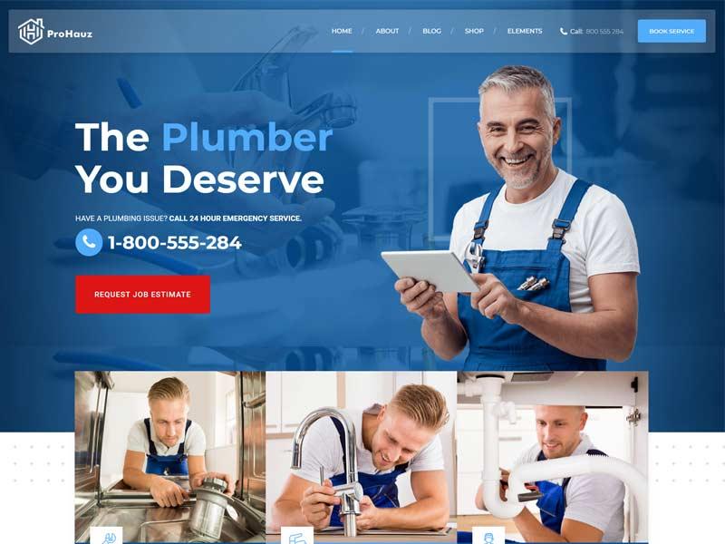 ProHauz – Plumber and Handyman WordPress Theme