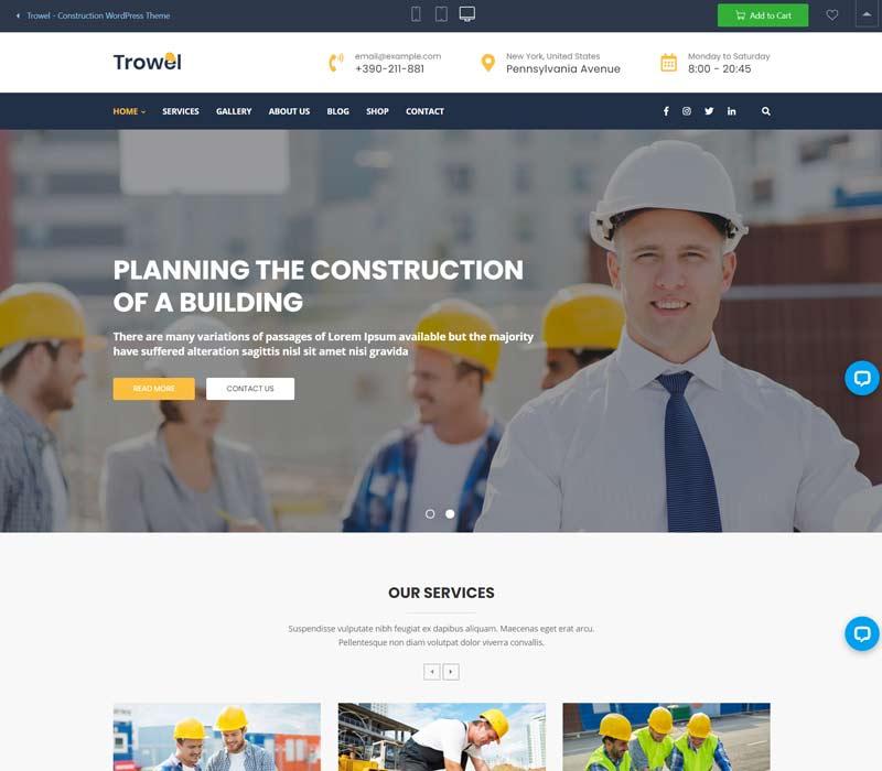 Trowel - General Contractor WordPress Theme