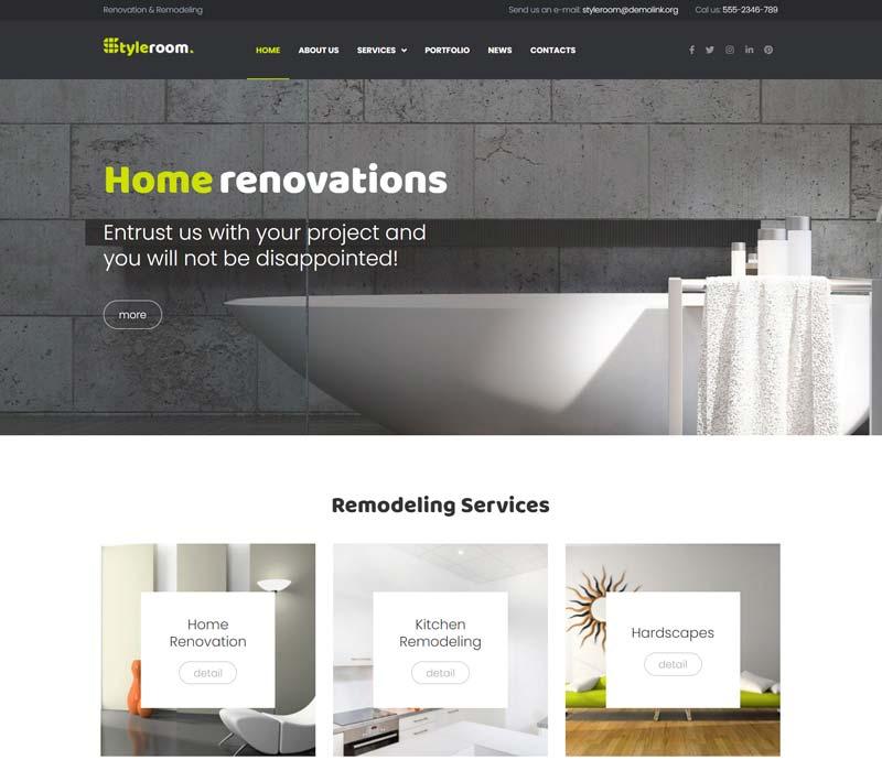 StyleRoom - House Renovation WordPress Theme