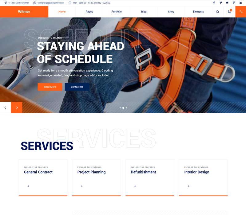 Wilmer - Building Contractor WordPress Theme